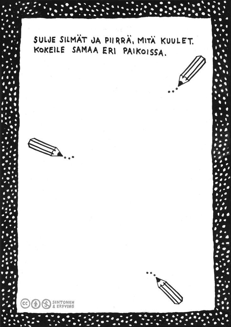 Herkkien korvien tehtäväkortit –teos on perusopetuksen alaluokille suunnattu tehtäväkirja, jossa keskitytään ääneen. Lataa koko julkaisu parempilaatuisena:http://hdl.handle.net/10138/156292. Tekijät: Sara Sintonen & Emilia Erfving   #mediakasvatus #medialukutaito #monilukutaito #alakoulu #alkuopetus #musiikki #kuvataide #kuva ja ääni #alkuopetus #moniste #ilmainen #oppimateriaali #suomenkielinen #creativecommons