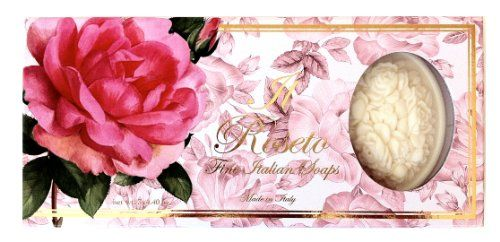 Saponificio Artigianale Fiorentino Soap Made in Italy  A Roseto Rose Three Highly Decorative Carved Bars  44 oz each bar -- You can get additional details at the image link.