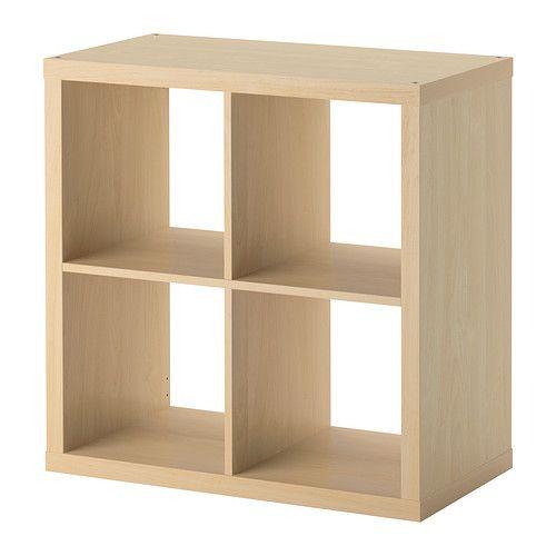 IKEA - KALLAX, Estantería, efecto abedul, , Se puede colgar en la pared o dejar en el suelo.