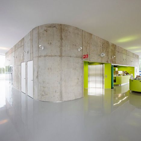 Helsinki firm Arkkitehdit NRT designed these workshop facilities for Kymenlaakso University of Applied Sciences in Finland.