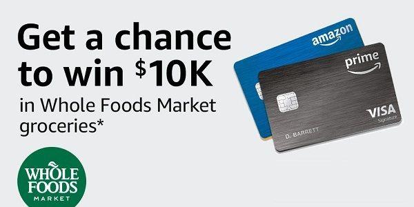 Www Amazon Com Amazonvisa Win 1 Of 20 10 000 Whole Foods Market Gift Cards Amazon Sweepstak Whole Foods Market Whole Food Recipes Whole Foods Gift Card