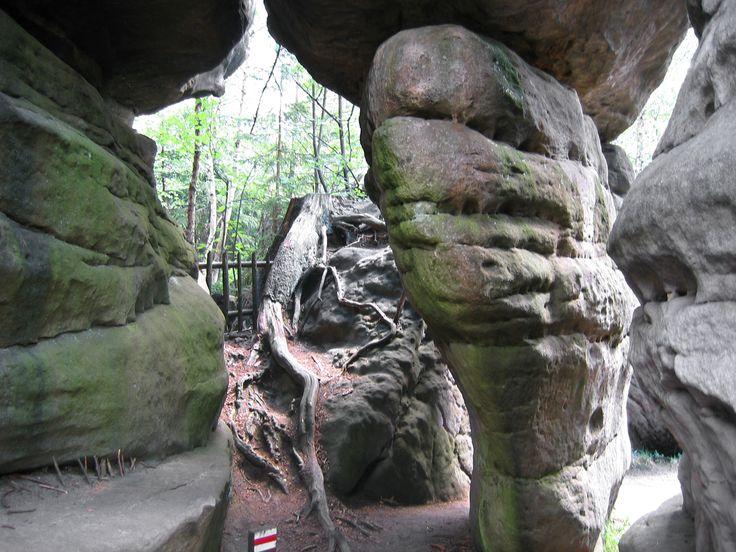 Błędne Skały – zespół bloków skalnych na wysokości 853 m n.p.m., tworzący malowniczy labirynt , położony w południowo-zachodniej Polsce w Sudetach Środkowych w Górach Stołowych.