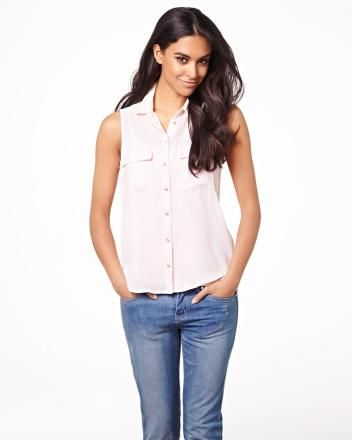 Sleeveless silky crepe blouse RW&CO. Summer 2014 Collection