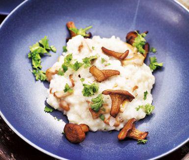 Kantarellrisotto är både krämig och läcker på middagsbordet. De härliga smakerna av schalottenlök, parmesanost och kantareller är oslagbara i denna risotto.