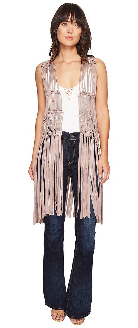 Show Me Your Mumu Dreamweaver Fringe Vest (Dune Crochet) Women's Vest - Show Me Your Mumu, Dreamweaver Fringe Vest, MS7-719-DC17, Apparel Top Vest, Vest, Top, Apparel, Clothes Clothing, Gift - Outfit Ideas And Street Style 2017