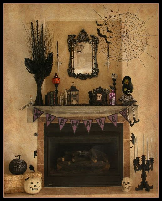 Happy Halloween Tips On Home Decoration 1: Best 25+ Halloween Fireplace Ideas On Pinterest