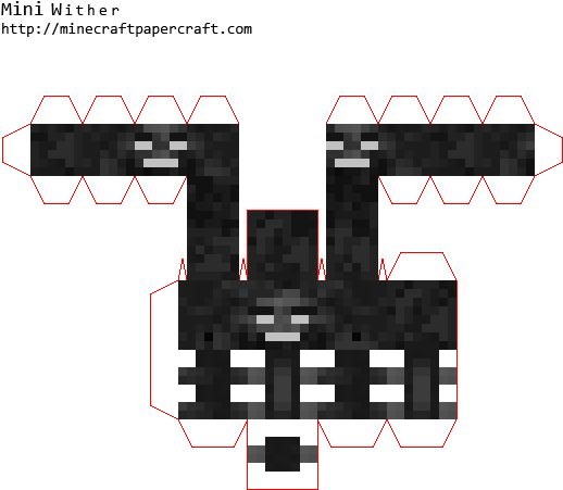 Mini Wither - Papercraft Minecraft Mini Wither, HD Png ...