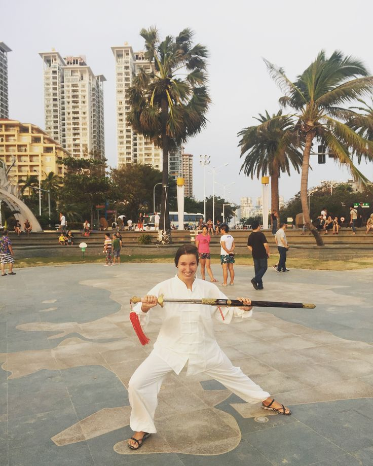 "I became a Tai Chi ""master"" today!  @visit_sanya #SanyaTrip #sanyaheartstohearts #visitsanya #sanya #hainanisland #travel #competition @travelgram #instatravel #travelblogger #traveling #travelblog #wanderlust #taichi #master #sport #knife #hot #exercise"