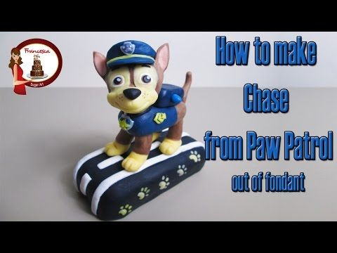How to make Chase from Paw Patrol cake topper tutorial - YouTube
