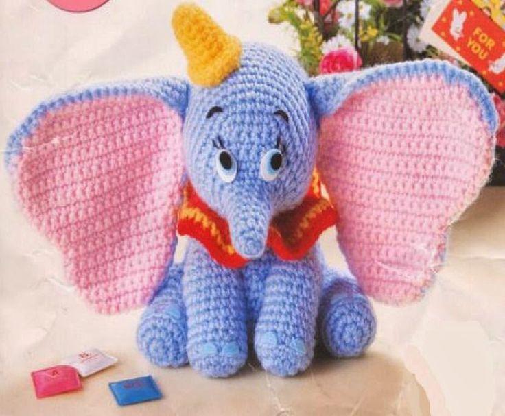 Hola!!   Esta vez le  tocado  a Dumbo.     Patrón de Dumbo:  Dumbo.pdf Espero q…