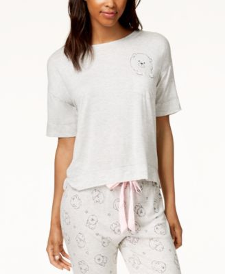 051057254d29 Jenni by Jennifer Moore Graphic-Pocket Pajama Top, Created for Macy's -  Blue XXL