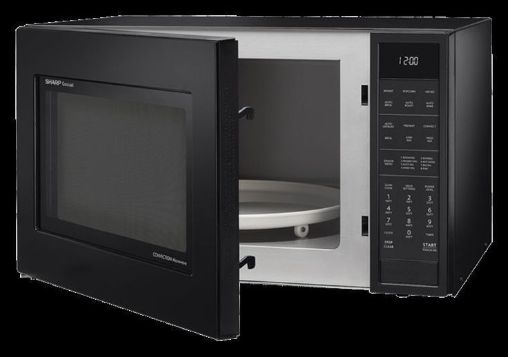 Sharp SMC1585BB 1.5 cu. ft. Microwave Oven with Convection Cooking in Black