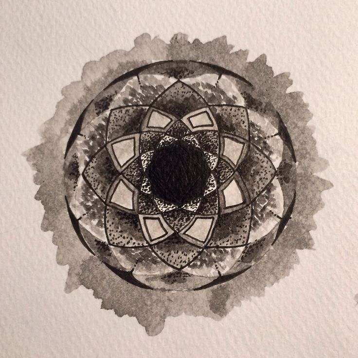 #mandala #indianink #ink #art