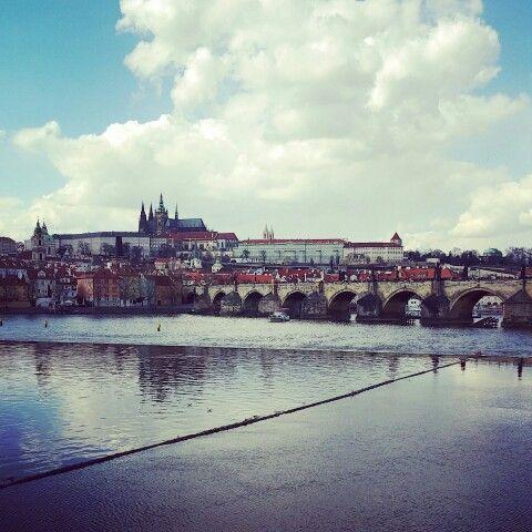 Prague,  Vltava River.