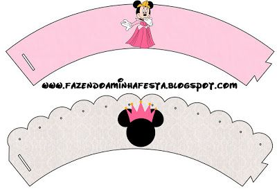 Minnie Princesa - Kit Completo com molduras para convites, rótulos para guloseimas, lembrancinhas e imagens!
