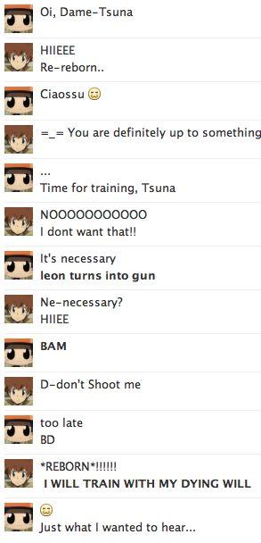 tsuna: dey see me rolling , me TRAINING...