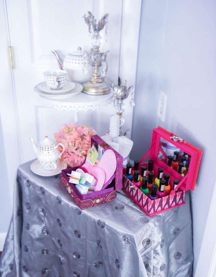 Spa and Tea Birthday Party Ideas | Photo 1 of 46