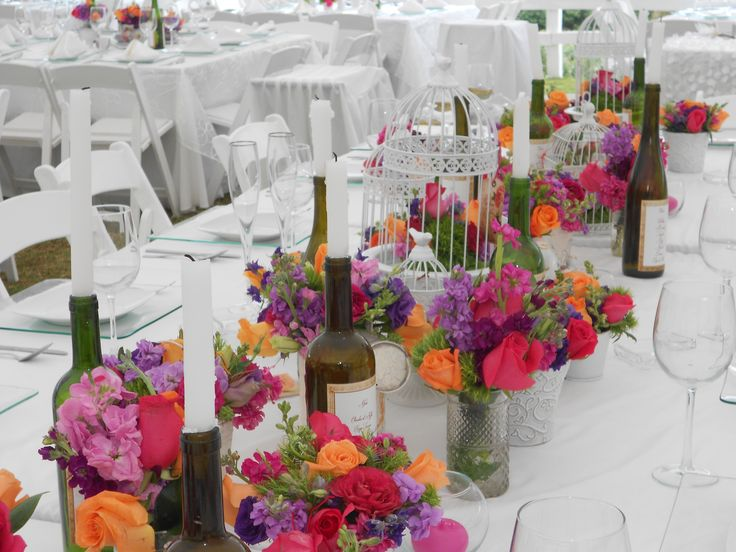 117 best centros de mesa para bodas images on pinterest - Centros de mesa con velas ...