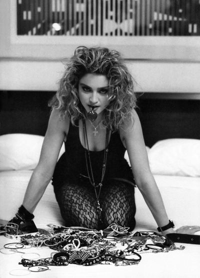 Madonna shot by photographer Ken Regan.  Los Angeles.  1985.