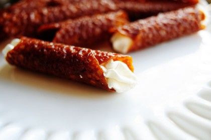 Brandy Snaps | The Pioneer Woman - Cannoli-like cream-filled cookies. Perfect holiday dessert.
