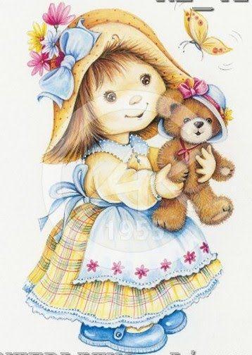 Menina com urso