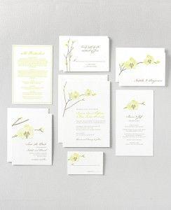 Beautiful Orchid Wedding Invitation -