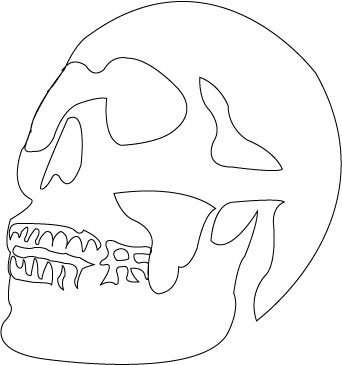 Skull stencil hodge podge pinterest skull stencil for Templates for wood cutouts