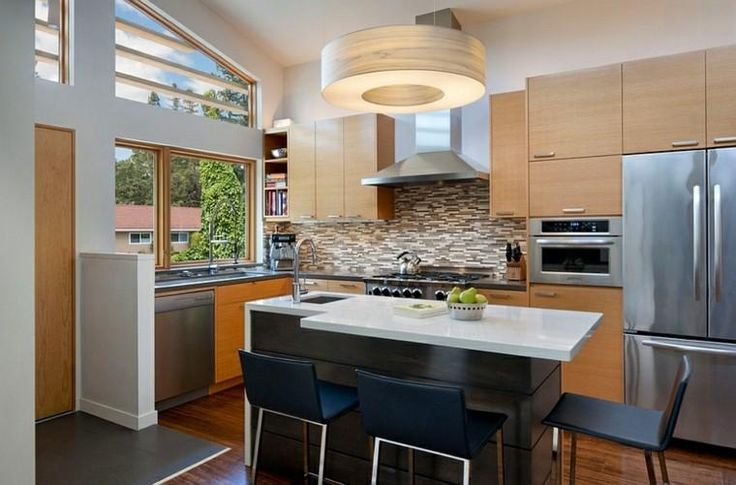 Islands for kitchens – small and functional variants.