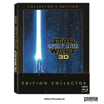 Star Wars Le réveil de la Force Blu-Ray 3D + 2 Blu-Ray Edition Collector - Blu Ray - J.J. Abrams - Daisy Ridley - John Boyega - Fnac.com