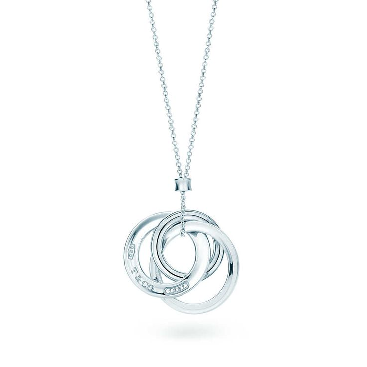 Tiffany 1837™ interlocking circles pendant in sterling silver, small. | Tiffany & Co.