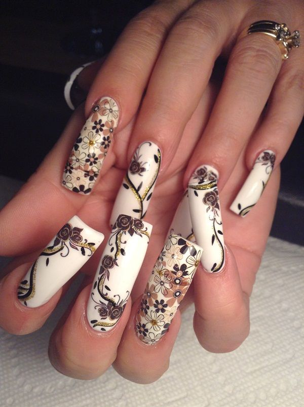Floral Manicures For Spring And: 1000+ Images About Flower Nail Art On Pinterest