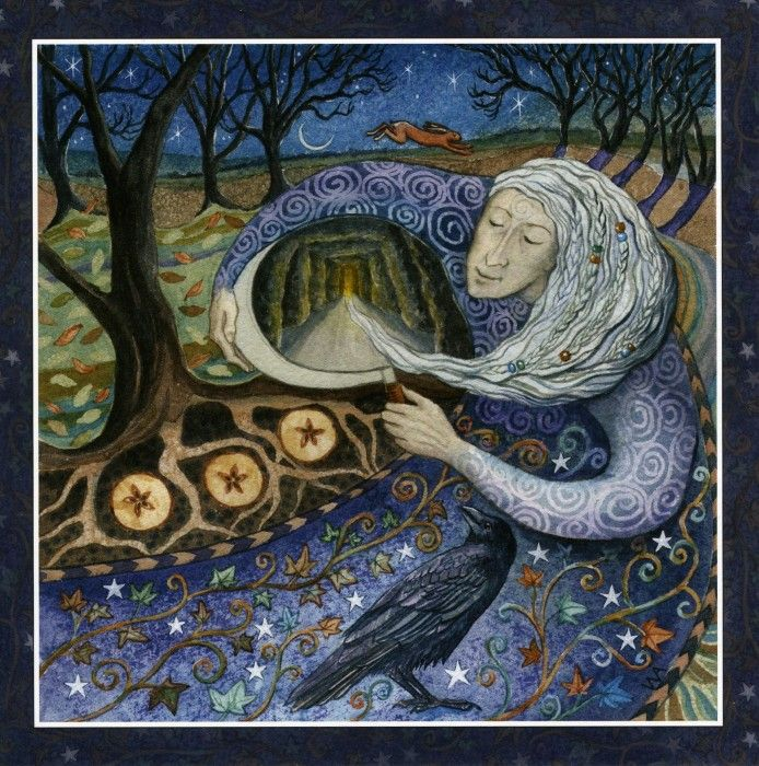 "Goddess Festival #Samhain #SacredPlaces #Earth ""Wise Old Crown Woman leads us into the dark days of winter. She knows that all must travel Her path to reach the rebirth of spring. A time to remember all those who have gone before."""