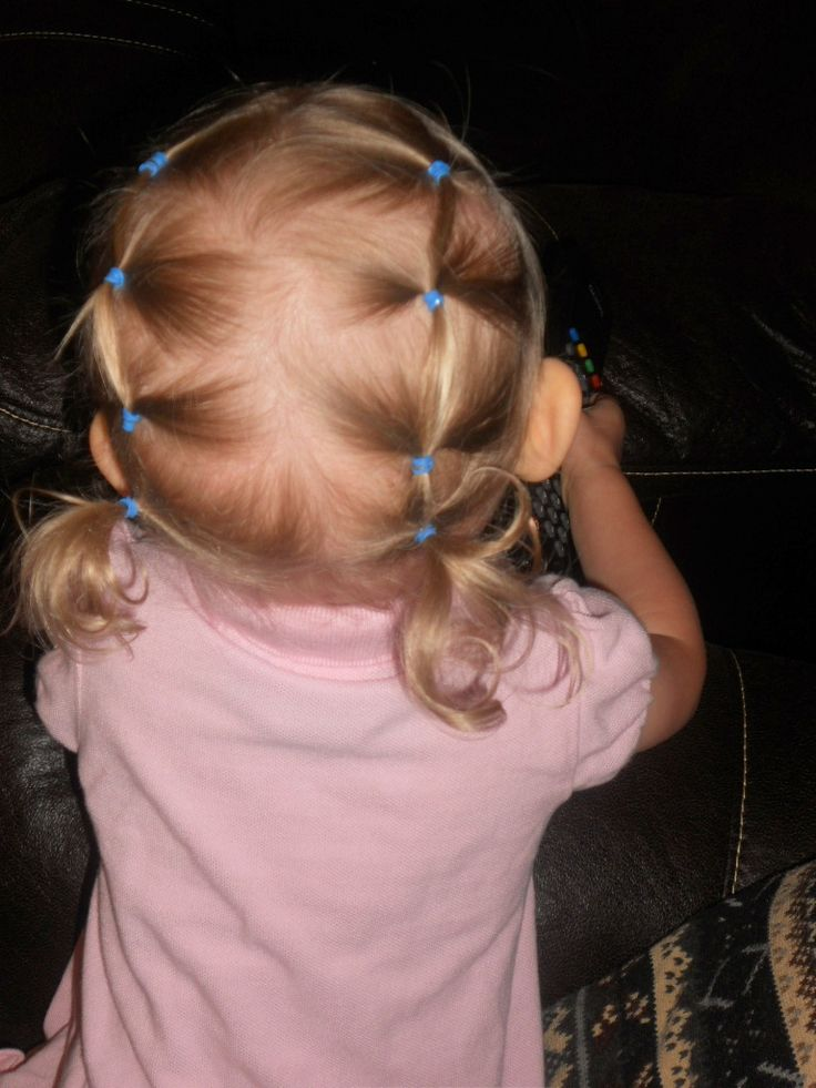 Toddler Hair do...Her hair is actually only a couple inches long