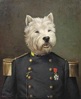 Thierry Poncelet anthropomorphic dog portrait