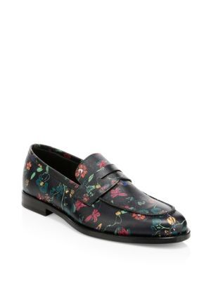 80275a02c93 PAUL SMITH Floral-Print Leather Penny Loafers.  paulsmith  shoes ...