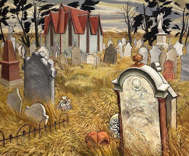 William Sutton, 'Nor-wester in the cemetery'
