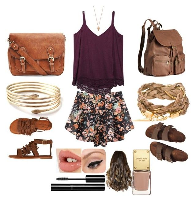 """""""What not you can do with a floral skirt..!!"""" by neha-barangali on Polyvore featuring Wet Seal, American Eagle Outfitters, Pamela Love, Birkenstock, H&M, Chanel, Charlotte Tilbury and LORAC"""