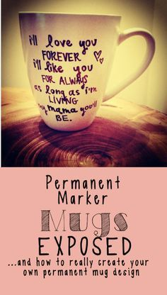 The truth about permanent marker mugs, and how to really create your own permanent mug design!