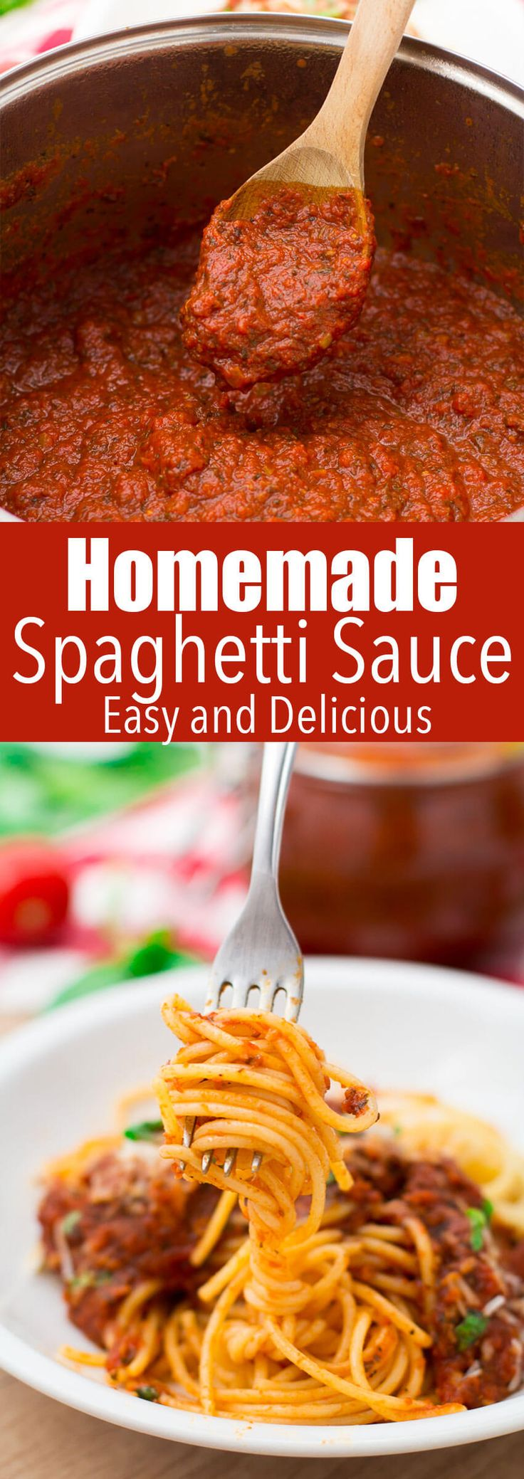 Homemade spaghetti sauce that is simmered to perfection, and makes a great weeknight dinner