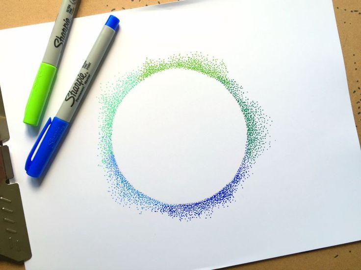 Cool pointillism DIY project