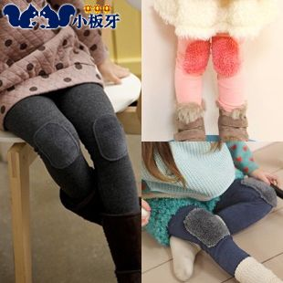 2013 autumn korean version of the new baby plush patch kids girls leggings boots pants long trousers 5157 only $6.52USD a Piece