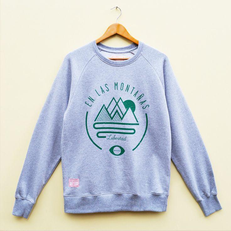 Organic - Freedom in the Mountains Sweatshirt (Grey)