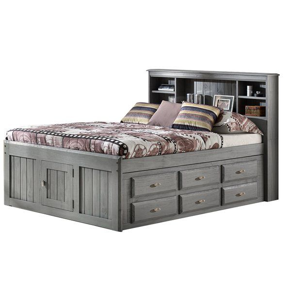 Constructed From Solid Pine Wood This Full Mate S Captain S Bed With 12 Drawers Classic Full Pairs A Gray Solid F Bookcase Bed Captains Bed Bed With Drawers Solid wood captain's bed twin