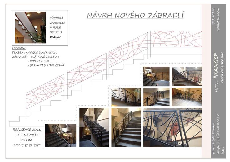 Design staircase and ailing