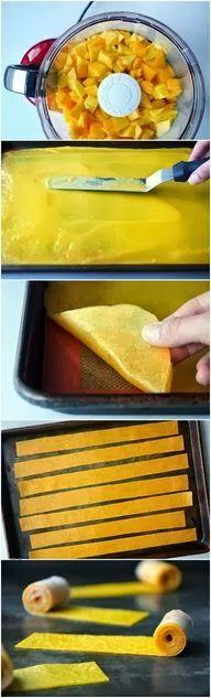 Easy DIY Crafts: Easy Homemade Mango Fruit Roll-Ups