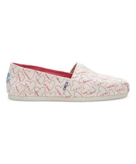 """Featuring the word """"love"""" written in various languages and a heart print,  wear your heart on your sole with this limited edition Classic Alpargata."""
