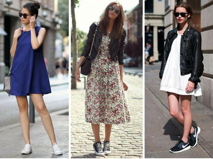 moda   roupas da moda   vestidos   vestido com tenis   como usar vestido e tenis   moda 2016
