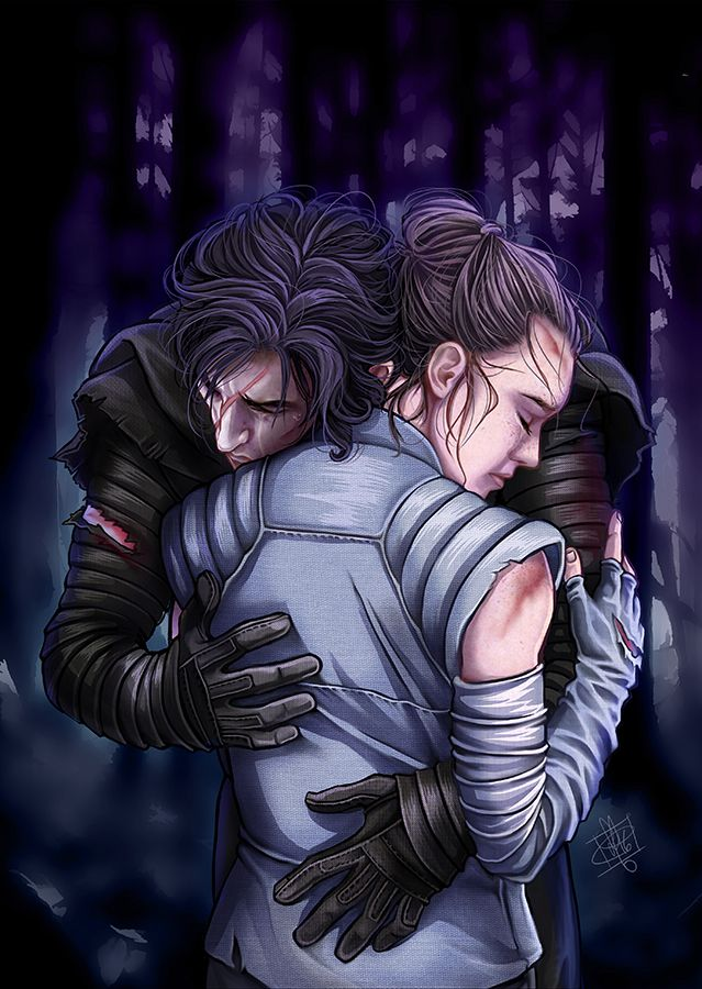 "clefslair: ""  ""Well, Rey is very forgiving"" Mum Leia knows this is coming ! XD. ( One can only hope !) wacom intuos 4 +Photoshop cc and a lot of motivation and free time. Print available on society6 https://society6.com/clefchan """