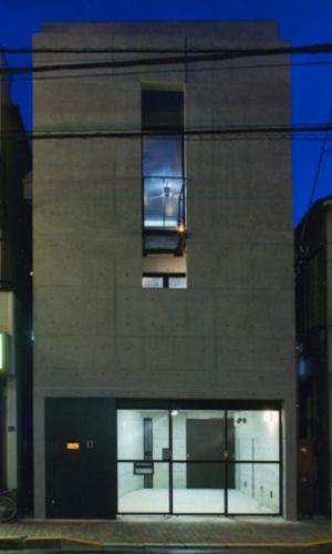 敷地13坪の鉄筋コンクリート造の都市型狭小住宅