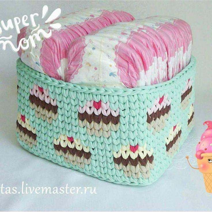 Linda opção para presentear no chá de fraldas!  @mama_viajet #cesto #basket #crochet #crochê #craft #artesanato #fiodemalhaecologico #fiodemalha #handmade #feitoamão #instacrochet #crocheting #crochetlife